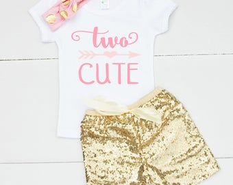 2nd Birthday Outfit for Girl - 2nd Birthday Shirt for Girl - Second Birthday Outfit for GIrl - Second Birthday Shirt for Girl - 2nd Birthday