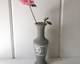 Vintage sage green/gray vase