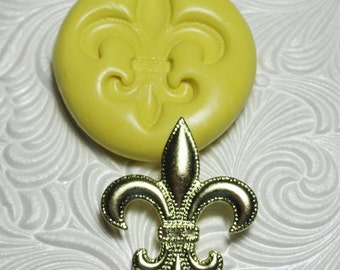 Fleur de Lis Mold Silicone Rubber Push Mold for Resin Wax Fondant Clay Fimo Ice 2006