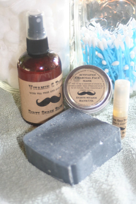 Acne Care Kit Activated Charcoal, Tea Tree Oil, Vitamin C and More