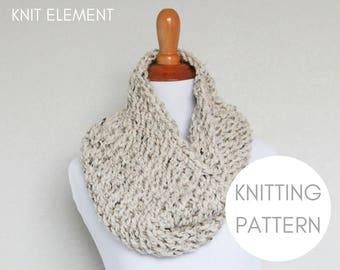 Knitting Pattern, Oxygen Cowl Knitting Pattern, Chunky Knit Cowl Pattern, Knitted Cowl Pattern, Easy Knitting Pattern