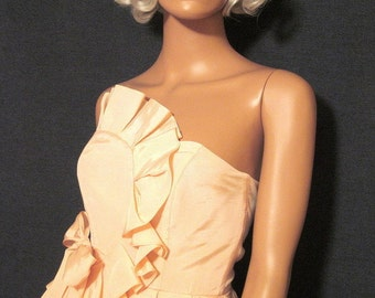 Vintage Jody California 1980's Does 1950's Wiggle Dress Small