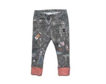 baby leggings // organic baby leggings // boho leggings // organic baby clothes // baby gift // toddler leggings // boho baby clothes