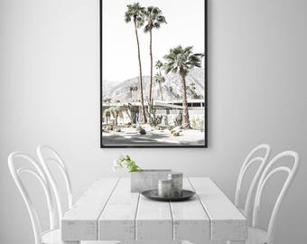 Palm Springs photography, Palm Springs Print, California photography, Desert photography, palm trees, mid century home