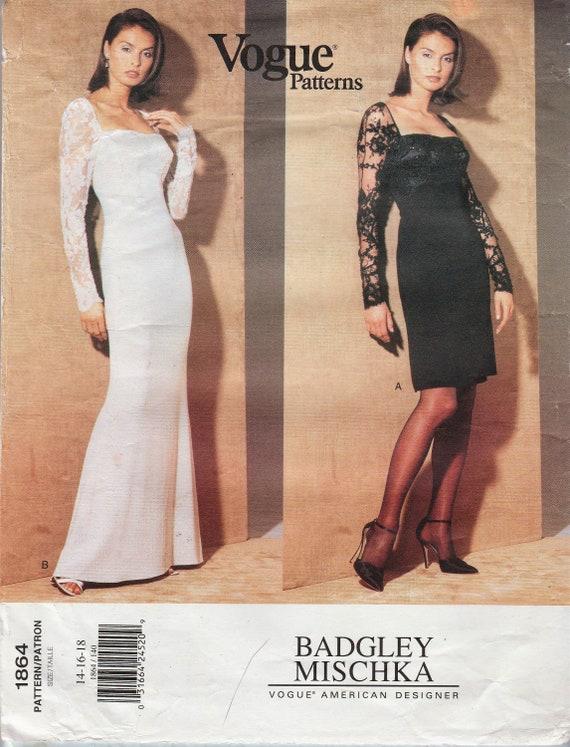 Mode 1864 / Designer Schnittmuster von Badgley Mischka /