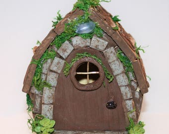 Handmade - Fairy House, Rustic Garden Cottage