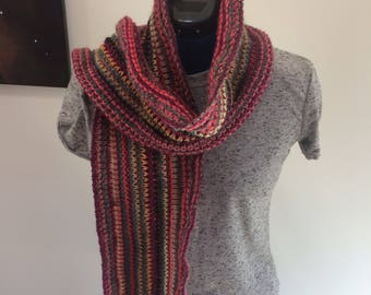 Fair Isle inspired scarf, multi-color