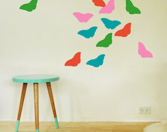 BUTTERFLIES Wall Sticker, Removable Decal, Made In Australia