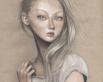 PRINT - Limited Edition - 17x24 cm unframed - Nadia