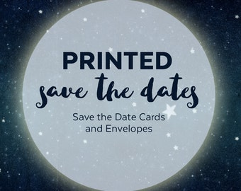 Printed Wedding Save the Date Cards - Save the Date Printed Cards - Printed Save the Date Cards with Envelopes