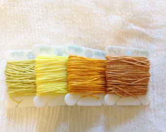 4 ply YELLOW 0.82mm Waxed Irish Linen Crawford Cord 5 - 20 yards Jewelry Beading Thread