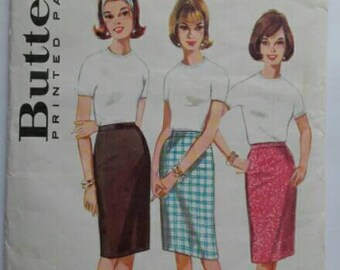 Vintage 1960s Womens Butterick Skirt Sewing Pattern No 3144