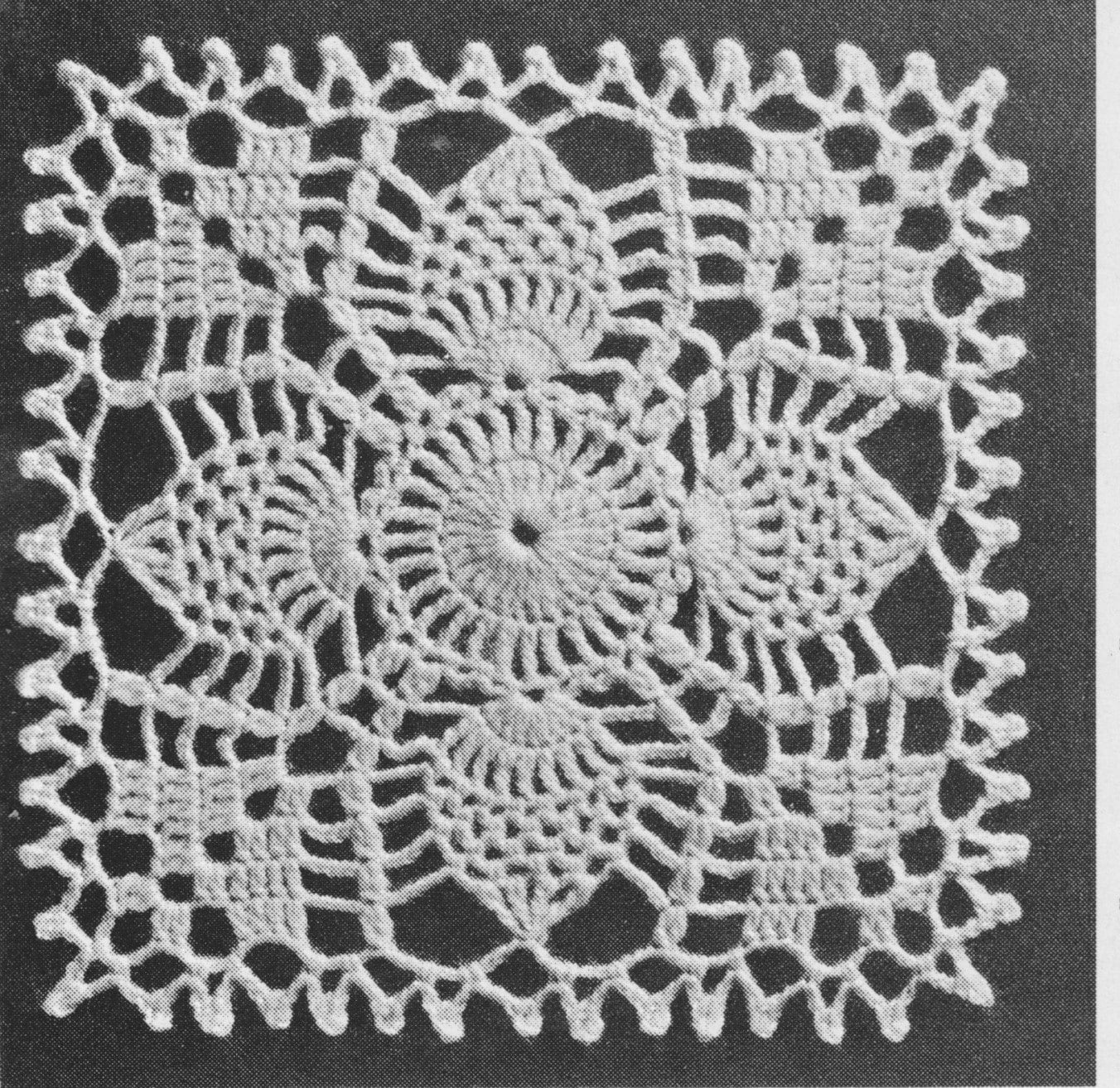 558 Pineapple Afghan Crochet Pattern, Pineapple Motif Design ...