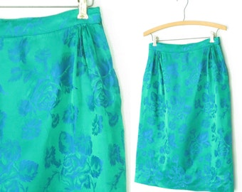 vintage brocade skirt * 60s skirt * pencil skirt * 1960s mini skirt * wiggle skirt * small
