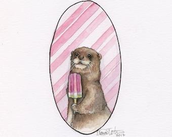 4 x 6 Print - Popcicle Otter