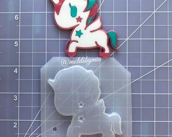 ON SALE Kawaii Tokiunicorn flexible plastic resin mold ~ 1 pc