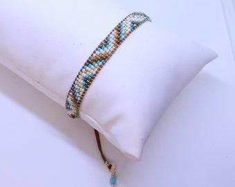 Seed bead single wrap braclet
