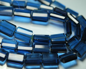 8 Inches Strand, Super Finest, London Blue Topaz Quartz Faceted Nuggets 16-18mm