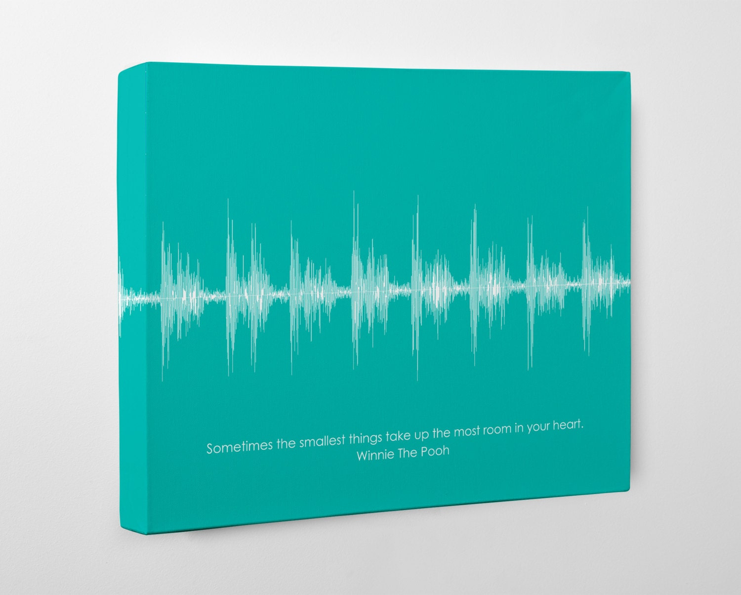 Baby heartbeat canvas baby shower gift girl boy sound wave zoom negle Images