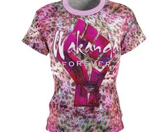 Wakanda Forever Pink Leopard TShirt