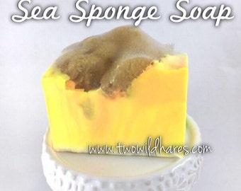 BIG SUR Sea sponge soap, 4oz