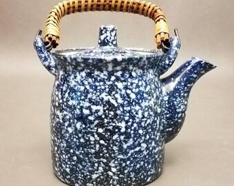 Vintage Hand Crafted Otagiri Original Japan Earthenware Splatter ware teapot