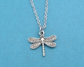 Dragonfly Necklace. Dragonfly jewelry.  Dragonfly charm.  Dragonfly gifts.  Gifts for Teen. Gifts for girls.