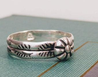 Southwest Shot Ring (Size 6.75 US), Southwest Ring, Decorative Southwest Ring, Native Inspired Ring, American Southwest