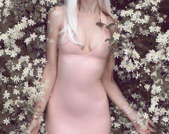 LaTeX basic Halter mini dress II colour choice