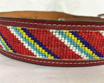 Beaded Southwest Belt by The Star Belt Company - Texas