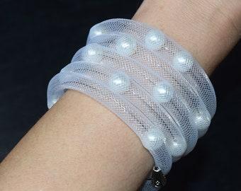 Multi Wrap Beaded Bracelet Scrolling Bracelet Custom Bridal Bracelet Stackable Bead Bracelet Unique Woman Bridesmaid Jewelry Trending now