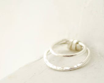 Solid Silver Ring, Wide Silver Ring, Architectural Jewelry, Minimalist Ring