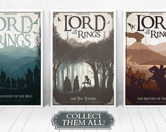 Lord of the Rings Trilogy Illustrations / Fellowship of the Rings / Two Towers / Return of the King / ***Bundle Discount***