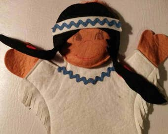 Native Canadian vintage puppet