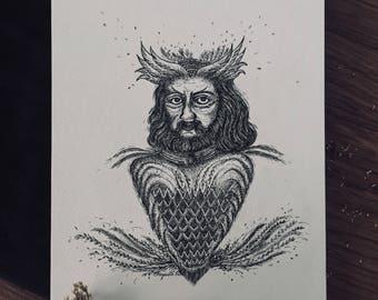 Monsieur ~ Art Print.