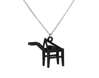 Shipping Crane Necklace - 3D Printed Nylon