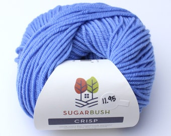 15%OFF Superwash Merino Wool in Crisp- French Blue Periwinkle DK Double Knit  Weight Yarn 95 yards 87 Meters 50gram Ball for knitting