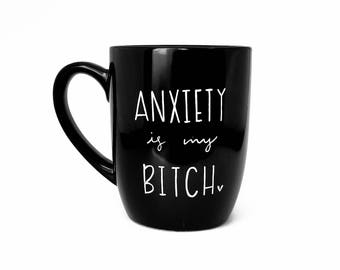 Anxeity Gift | Large Mug | Upcycled Mug | Quote Mug | Gift Idea | Ceramic Coffee Tea Mug | Recovery Gift | Father's Day Gift