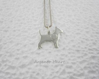 Chihuahua Heart Pendant