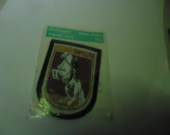 Vintage Wien Woven Blazon Patch or Badge Still In Package, collectable