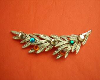 GOLDTONE BRANCH BROOCH