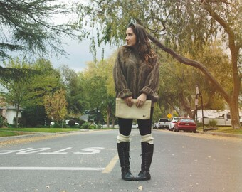 Vintage Oversized Sweater Brown