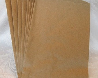 50 Paper Bags, Brown Paper Bags, Kraft Paper Bags, Candy Bags, Gift Bags, Party Favor Bags, Retail Bags, Merchandise Bags 6x9