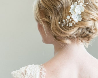 Pearl Head Piece, Bridal Hairpiece, Freshwater Pearl Hair Comb, Bridal Headpiece, Bridal Jewellery