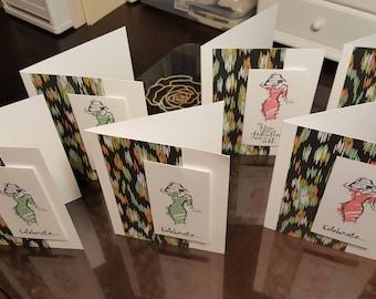 Celebrate! Feminine Greeting Cards