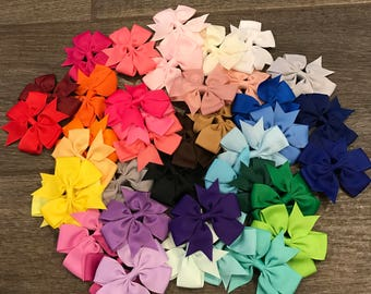 Variety pack of 40 Hair-bows
