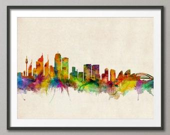 Sydney Skyline, Sydney Australia Cityscape Art Print (323)