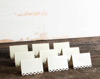 ivory place cards for wedding, shower, party set of 100 - tallulah