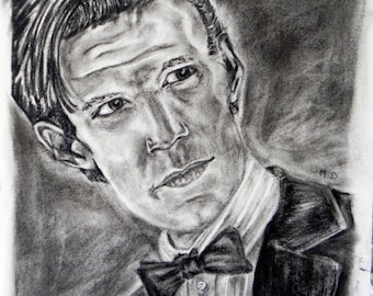 drawing, portrait, dr who 11 doctor, Matt Smith.