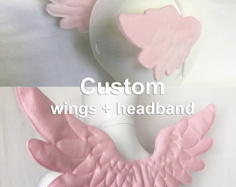 Angel Wings Combo Wings Headband and wings costume angel costume set cosplay wings set angel wings costume cosplay custom wings head wings